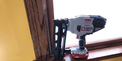 Porter Cable 20V MAX Finish Nailer – 16 Gauge Nails, Zero Red Compressors!