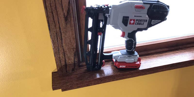 Porter Cable 20v Max Finish Nailer 16 Gauge Nails Zero Red Compressors Home Fixated
