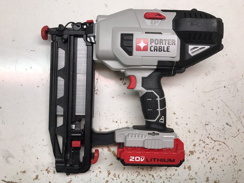 porter cable 20v max finish nailer