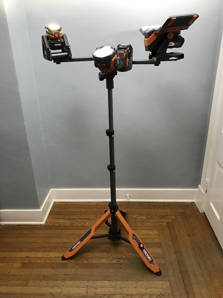 ridgid 18v flood light