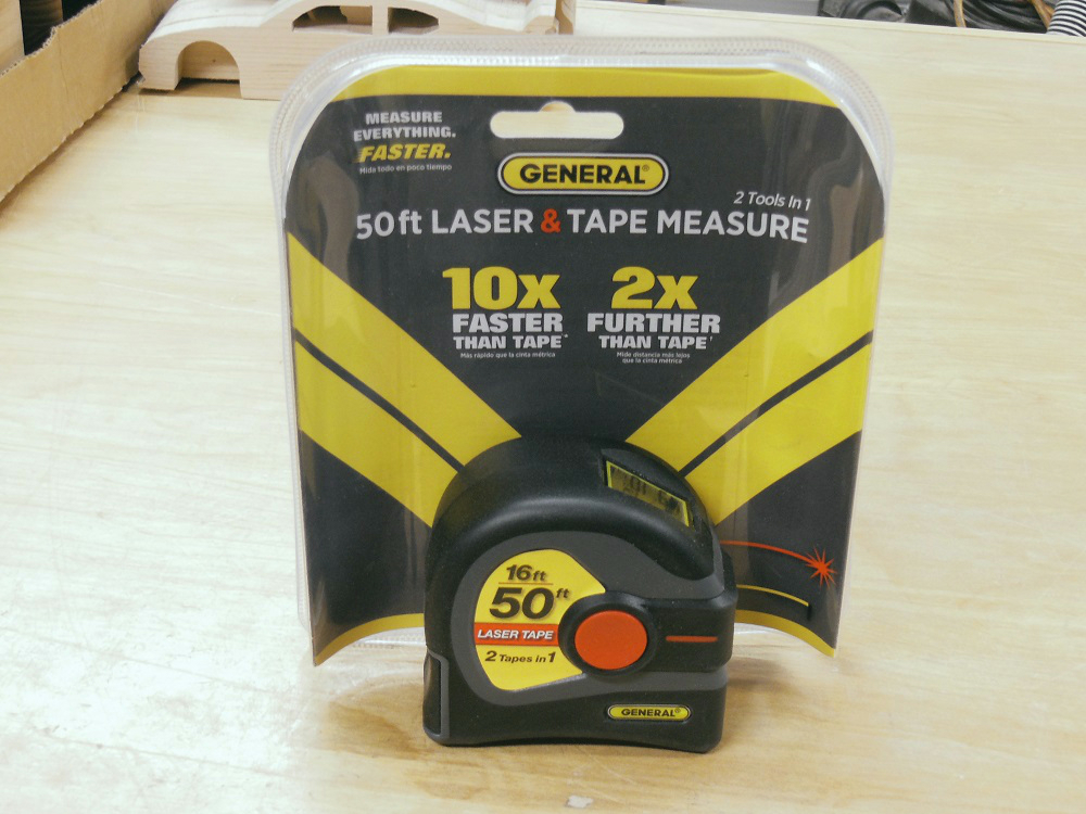 16/' Tape Measure 50/' Laser Measure General Tools LTM1 2-in-1 Laser Tape Measure LCD Digital Display