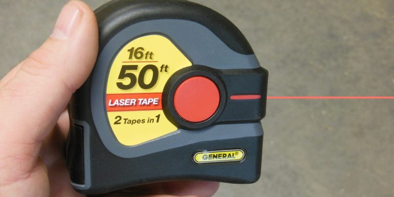 2-In-1 Laser Tape Measure By General Tools