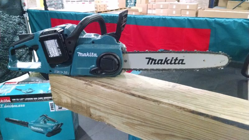 Makita X2 battery powered chain saw