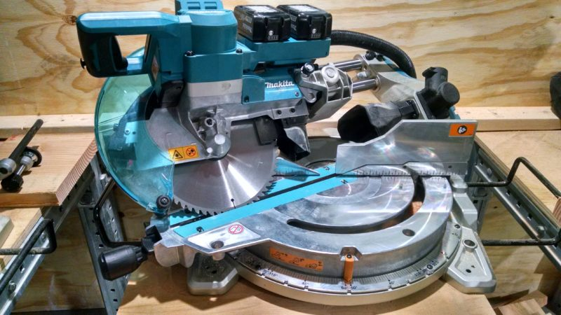 cordless X2 Makita cordless miter saw with 10-inch blade