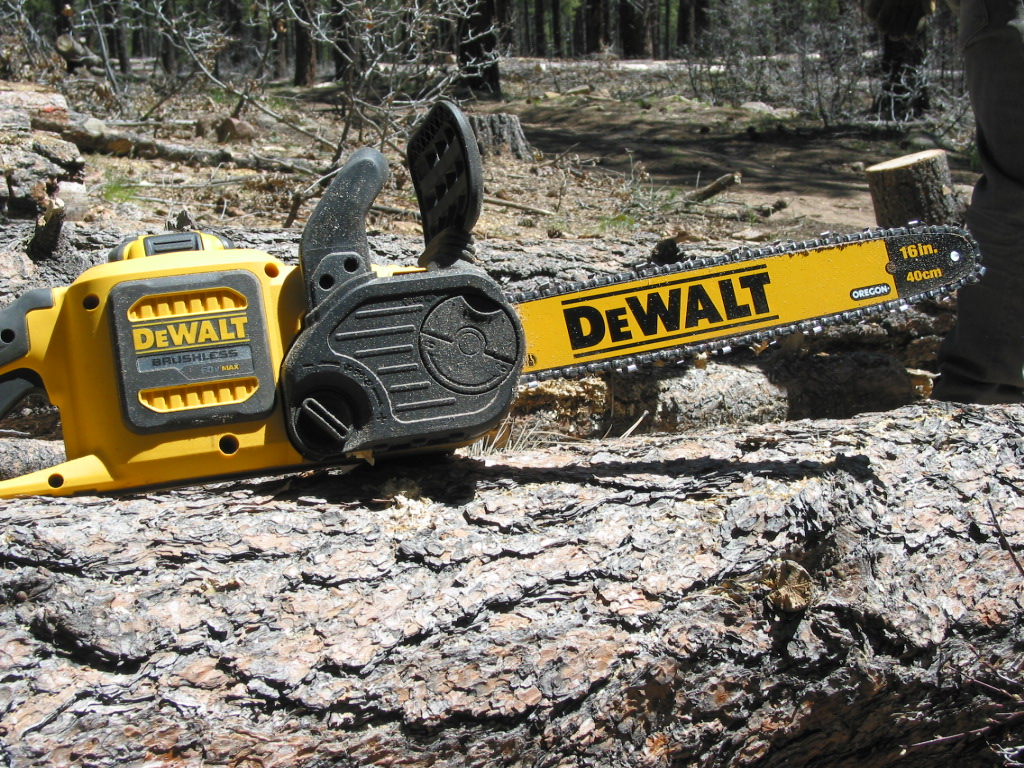 The Dewalt 60v Chainsaw Leave The Gas Can At Home Home
