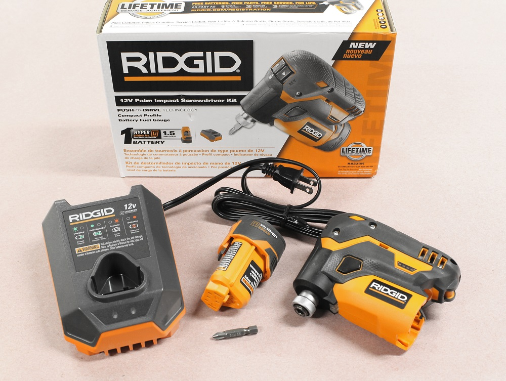 Ridgid 12-volt lithium-ion cordless impact driver (tool only.