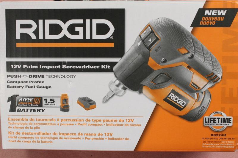 RIDGID R8224K 12V palm impact driver