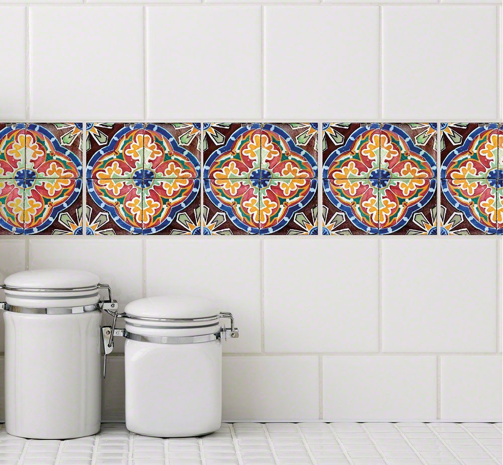 tile stickers for kitchen tile stickers stylish tattoos for your bath and kitchen 6184