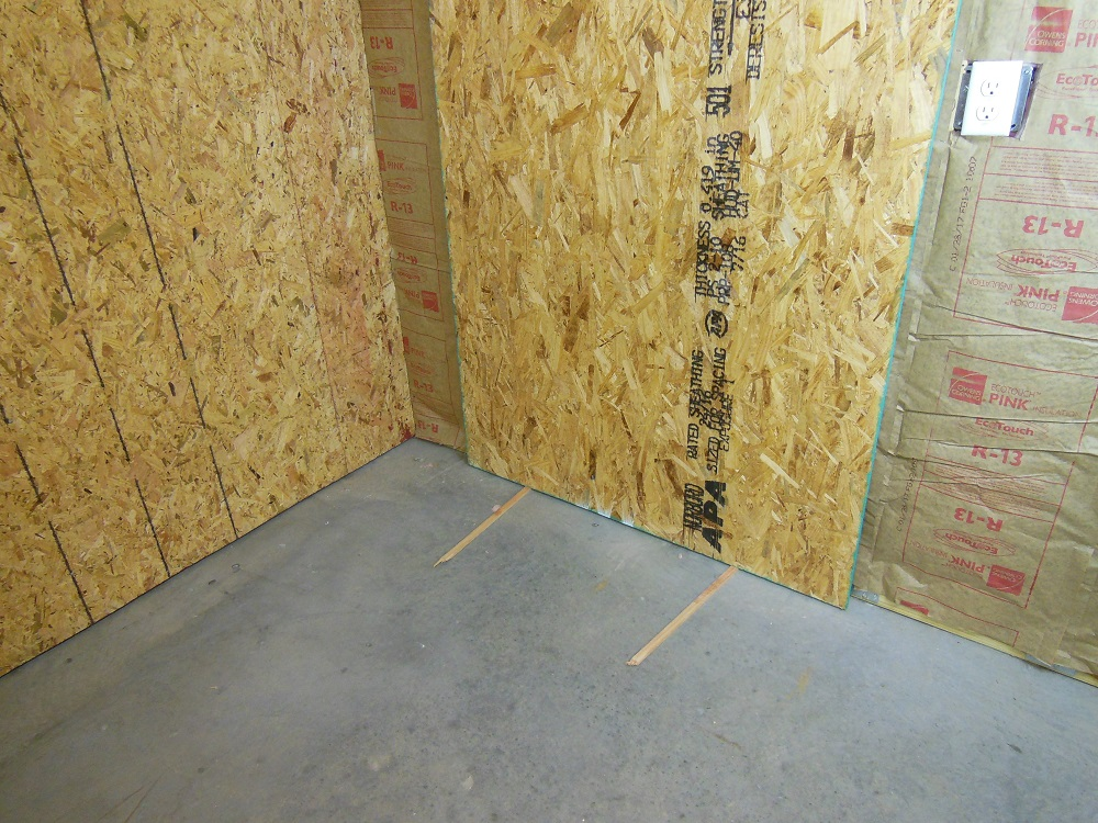 How To - Sheathing Garage Walls With Plywood and Insulate ...