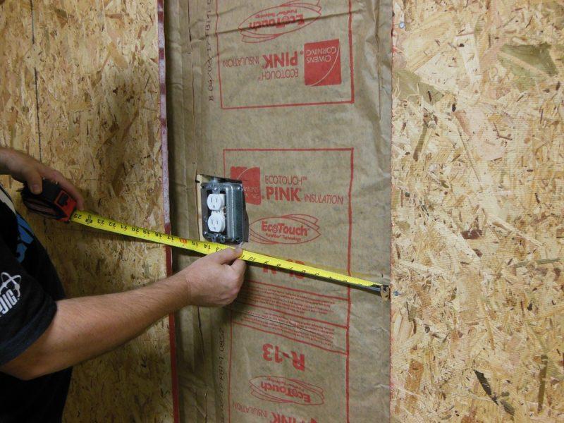 sheathing garage walls - measuring