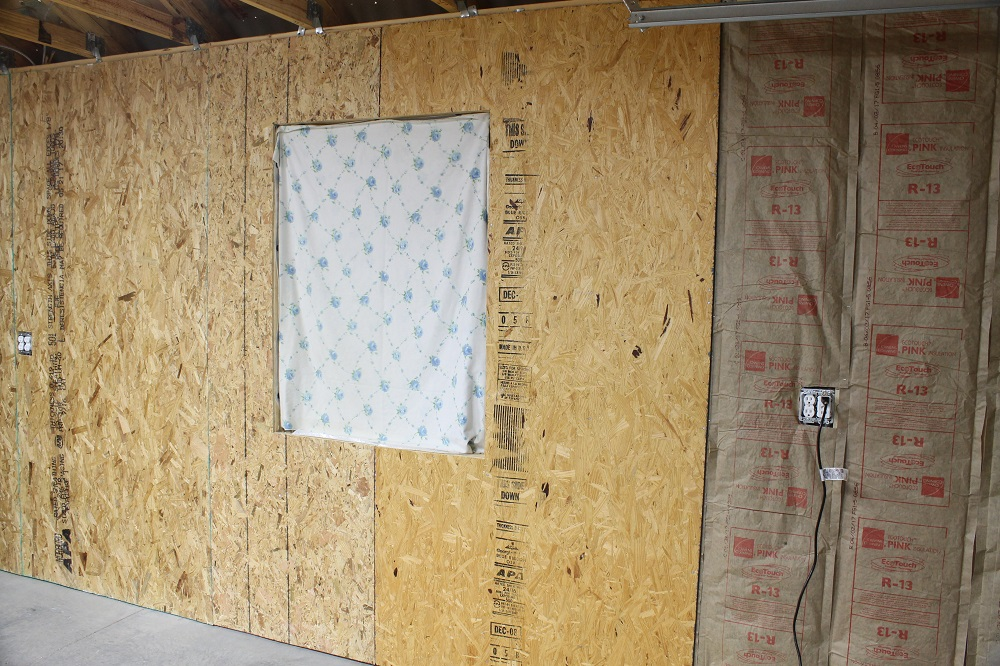 How to sheathing garage walls with plywood and insulate for Plywood wall sheathing