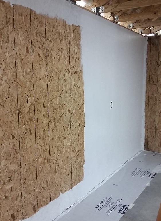 How to sheathing garage walls with plywood and insulate for Sheathing house wrap