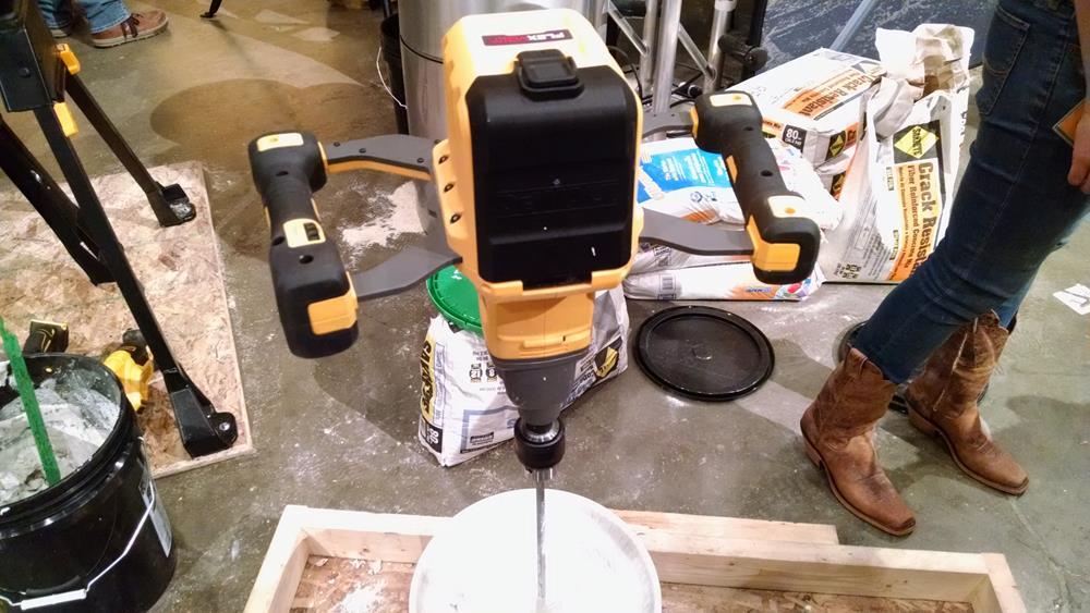 cordless mud mixer