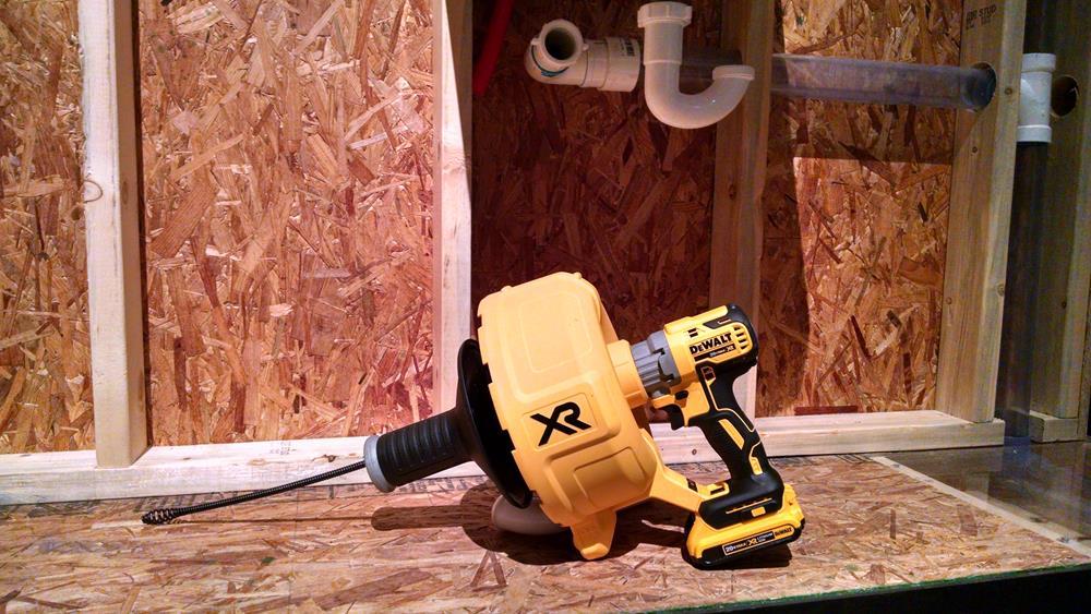 cordless drain snake power tool