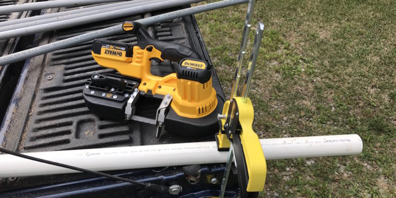 DeWalt Cordless Band Saw DCS371 Cuts PVC, Steel, And Another Cord