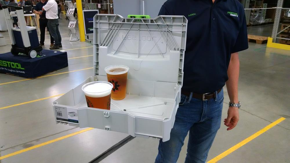 Beer served from a Systainer tool box