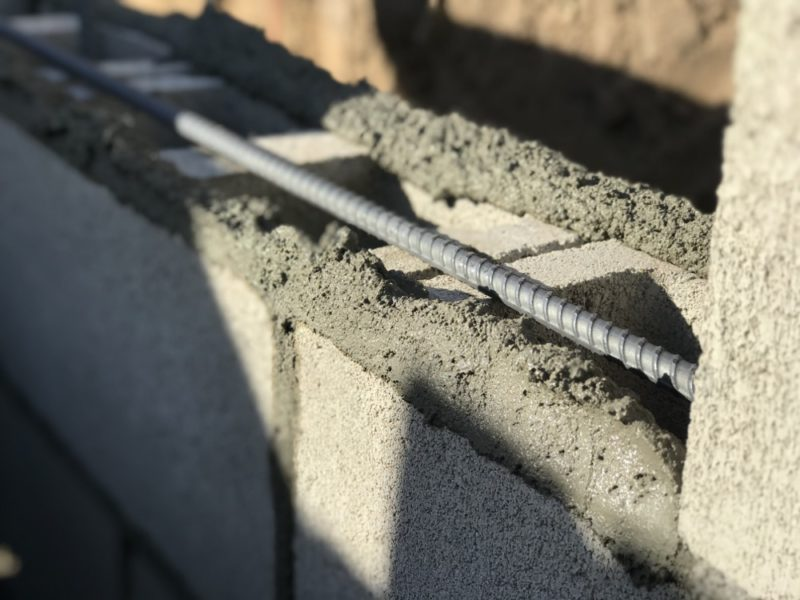 Concrete Block Rebar : How to build a concrete block wall part home fixated