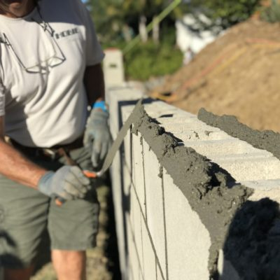 How to Build a Concrete Block Wall – Part 2