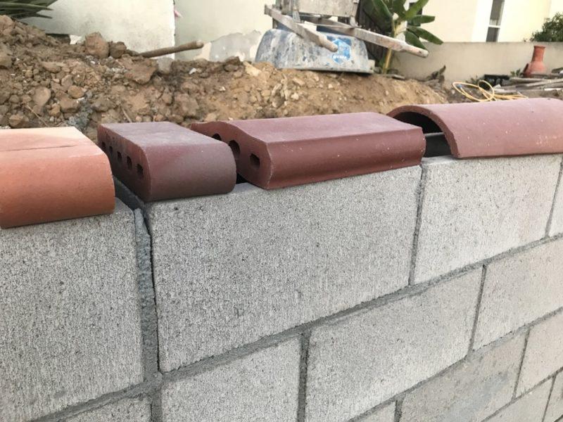 Wall cap options