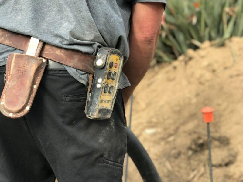 Concrete pump remote