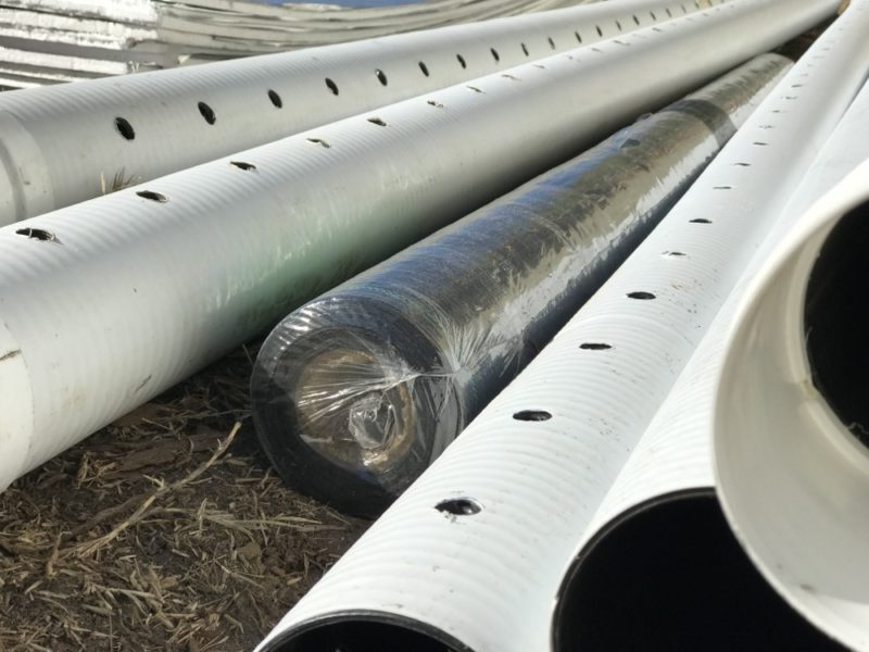 perforated drain pipe for block wall