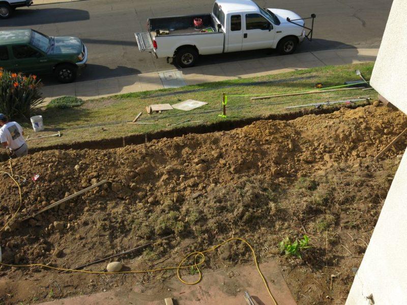 footing dig