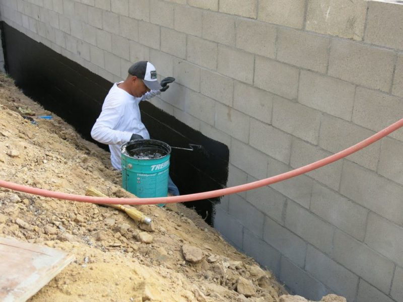Concrete Block Wall Waterproofing