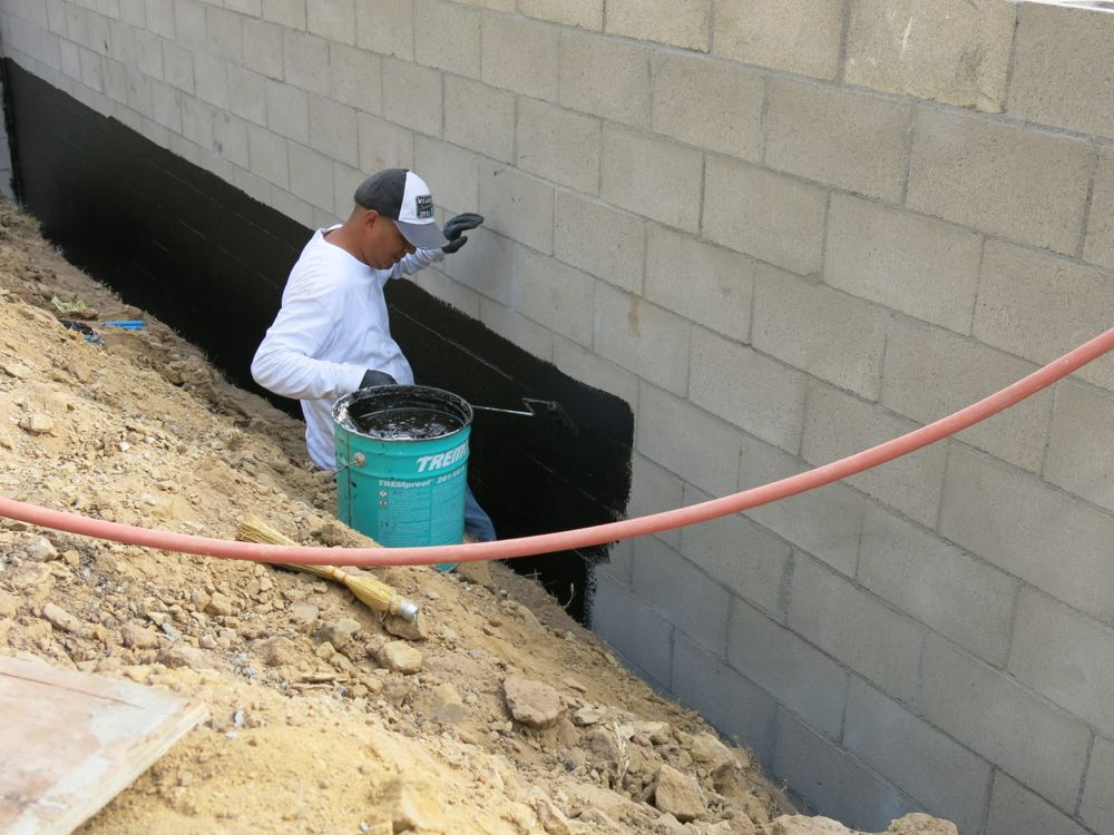 How to build a concrete block wall part 2 home fixated - Sealing exterior cinder block walls ...