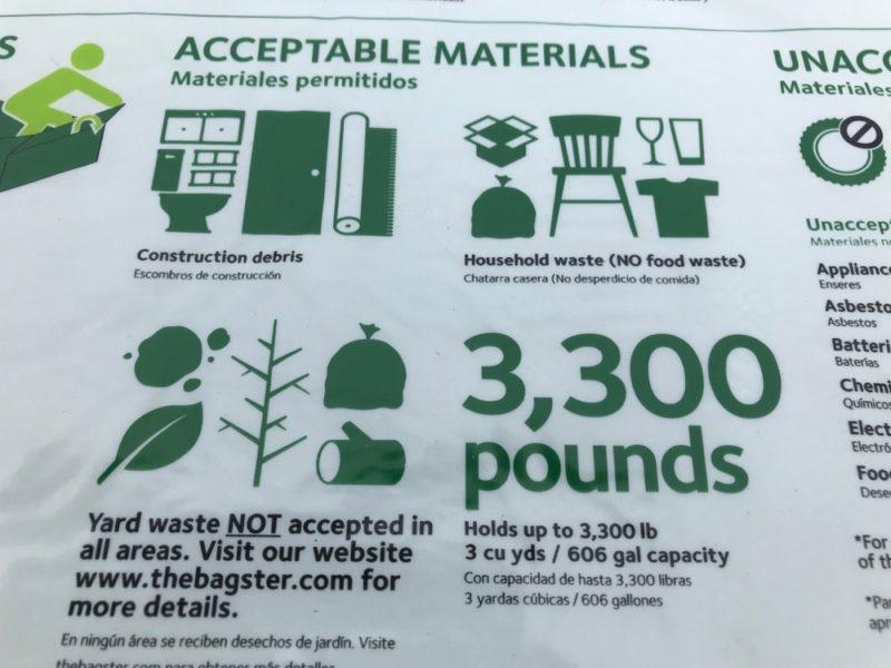 acceptable debris