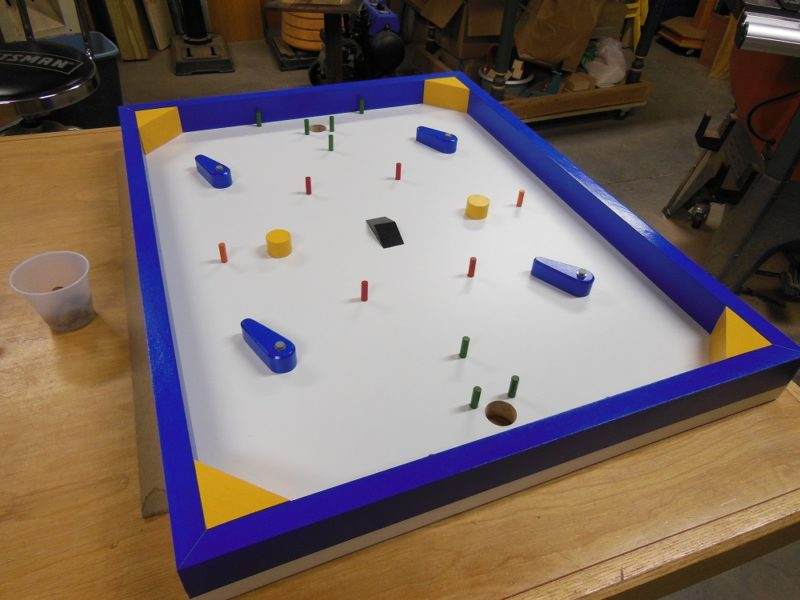 Quarter hockey game board