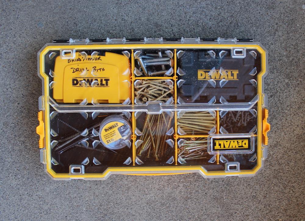 DeWalt parts organizer