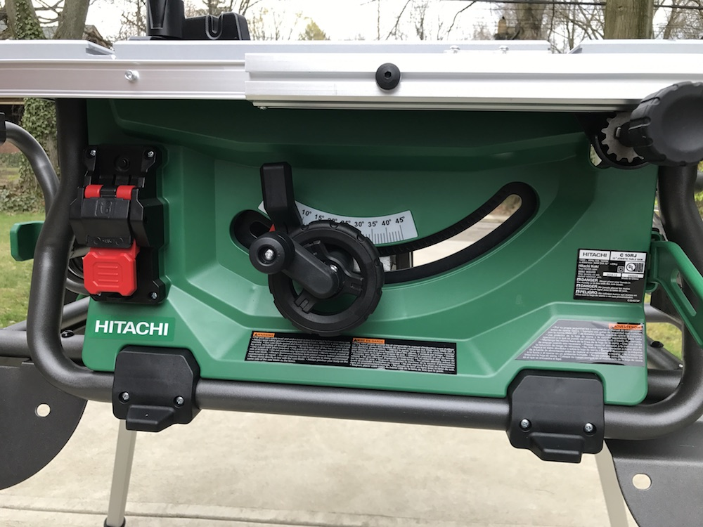 """Hitachi C10RJ 10"""" Jobsite Table Saw Review - Fold It Up And"""