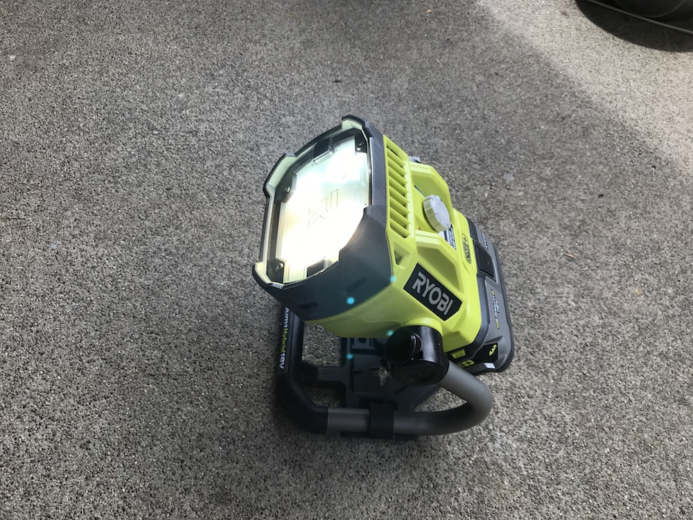 Ryobi P795 Hybrid Led Color Range Work Light Review Dialing In The View Home Fixated