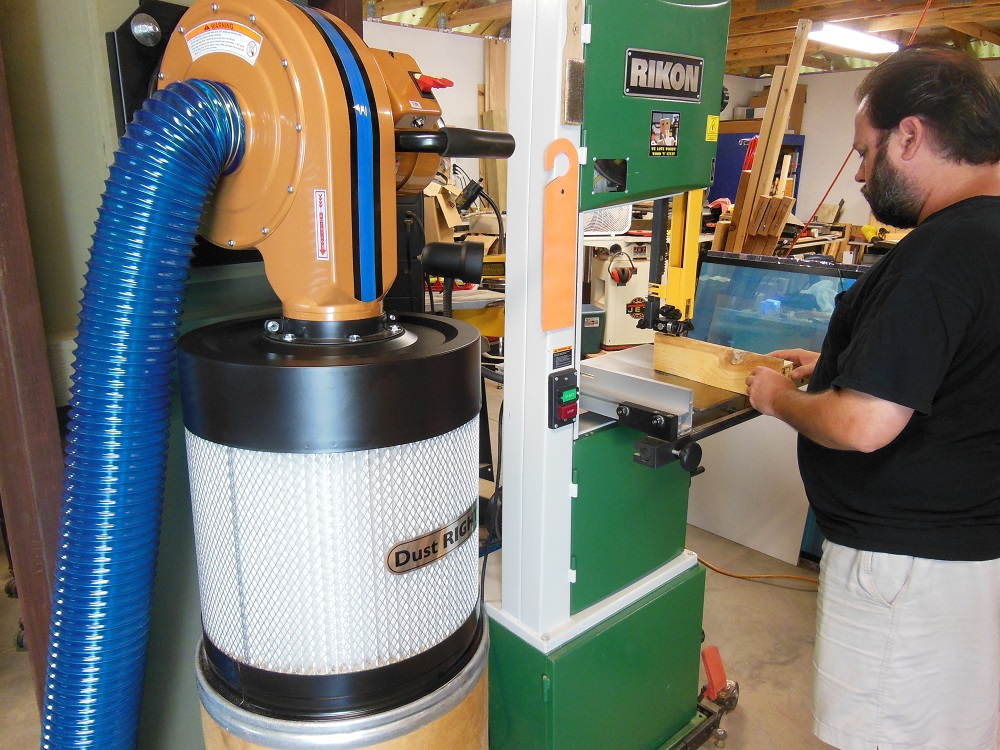 13 gal 1 HP Heavy Duty High Flow Dust Collector Wood Garage Shop Chips Clean