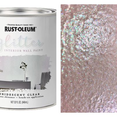 Rust-Oleum Interior Glitter Paint has Dazzling Possibilities