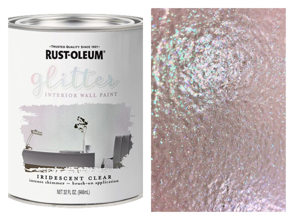 Rust Oleum Interior Glitter Paint Has