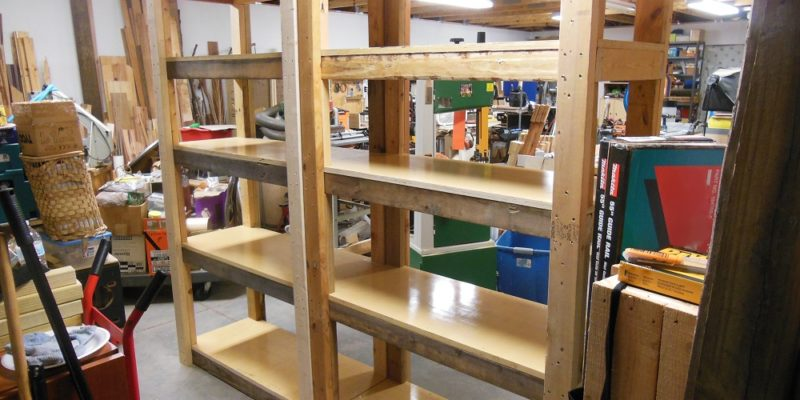 Make Your Own Heavy Duty Shelving Unit Vertical Storage
