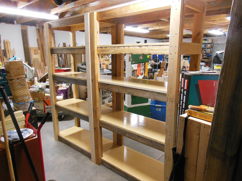 Make Your Own Heavy Duty Shelving Unit - A Vertical Clutter Buster