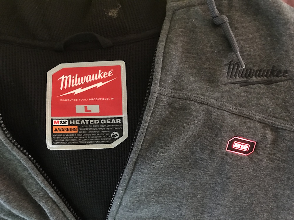 new Milwaukee heated hoodie