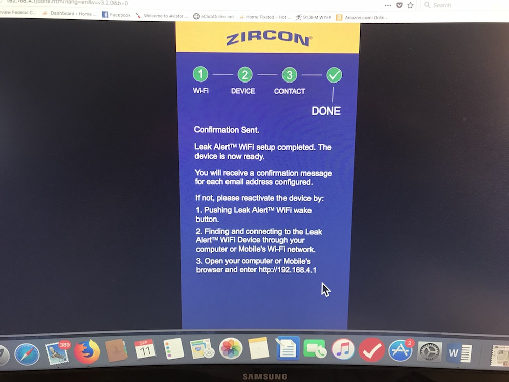 Zircon Leak Alert WiFi