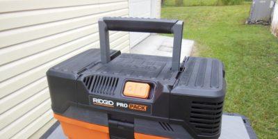 Ridgid Pro Pack 4.5 Gal. 5.0 Peak HP Portable Wet/Dry Vac – It Sucks, It Blows; It's Great On The Go