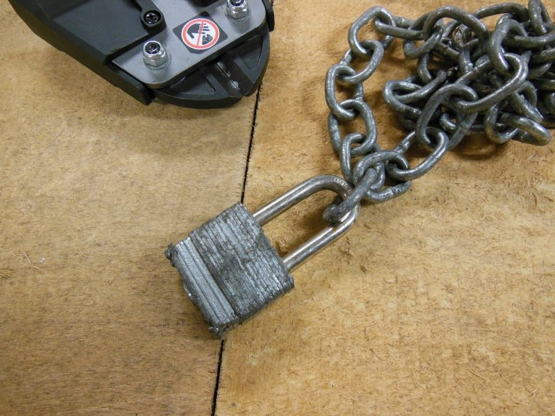 Missing key lock