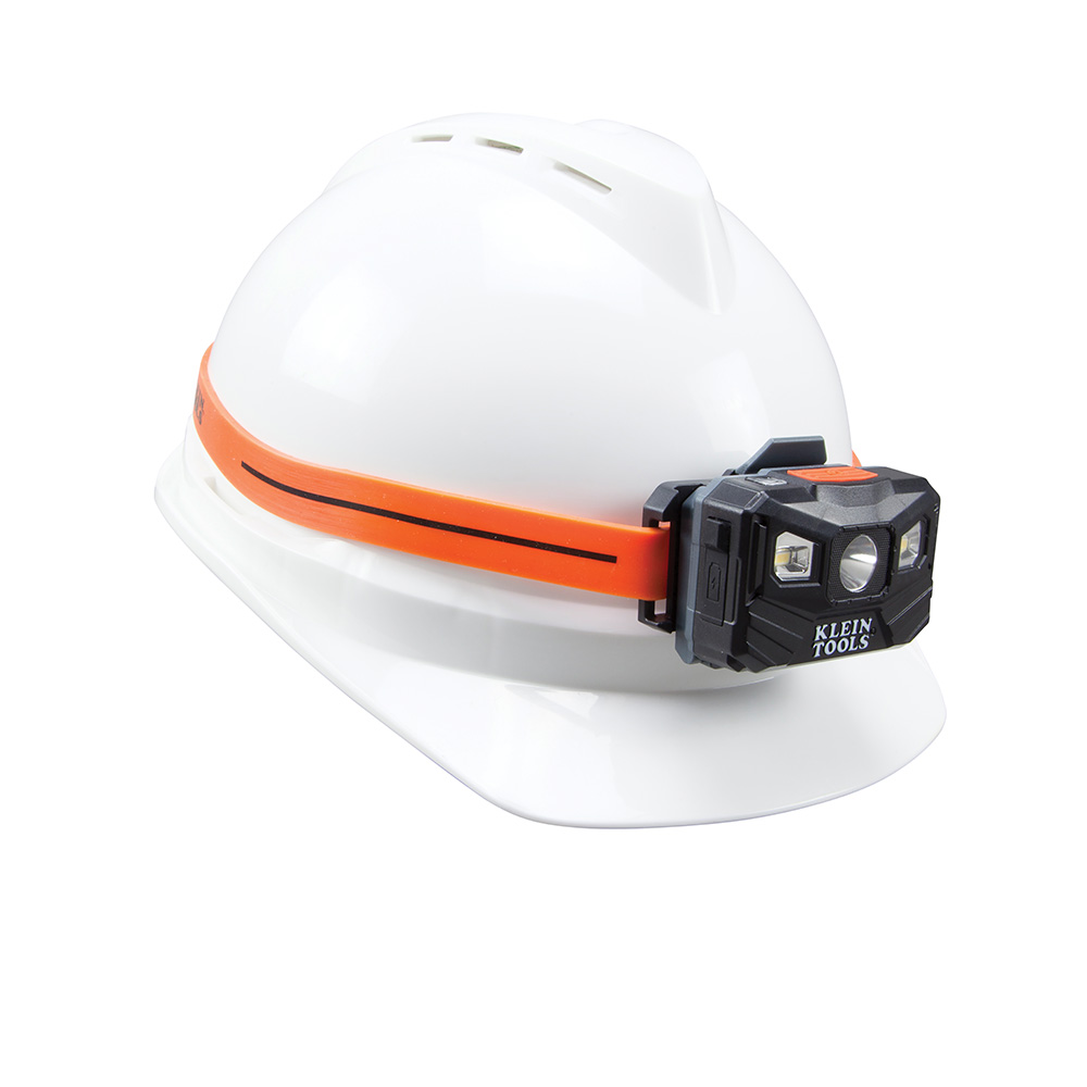 headlamp on hardhat