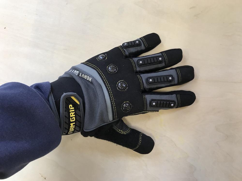 firm grip heavy duty work gloves
