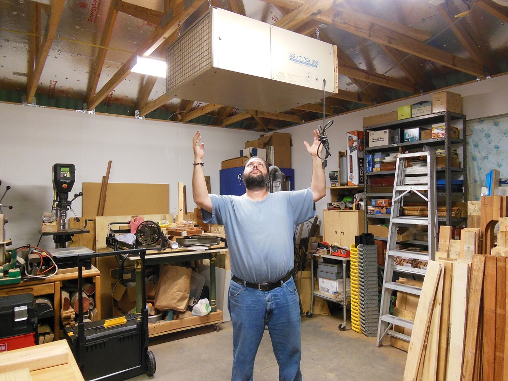 How To Safely Hang An Air Filtration Unit In Your Shop Without Help