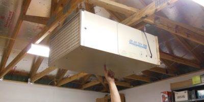 How To Safely Hang An Air Filtration Unit In Your Shop – Without Help