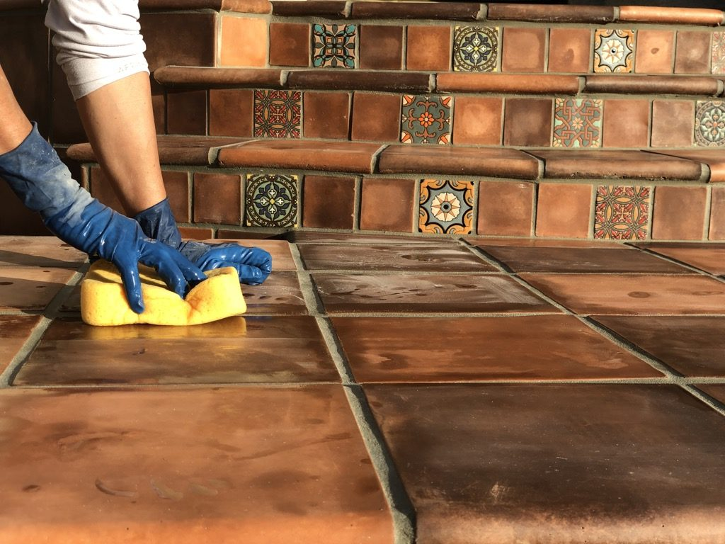 Spanish Tiles Walkway Makeover - Transforming a Front Entry with Tile and Style