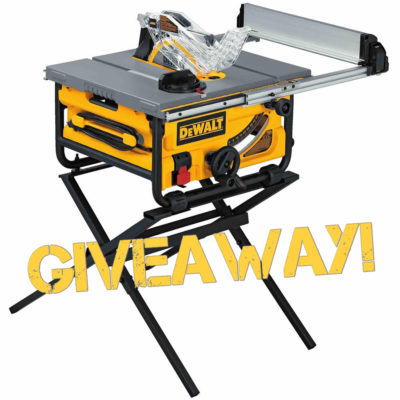 New Giveaway! Win a DeWalt DW745S Job Site Table Saw and Stand!