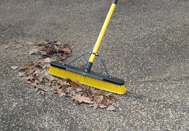 push broom landscaping tools