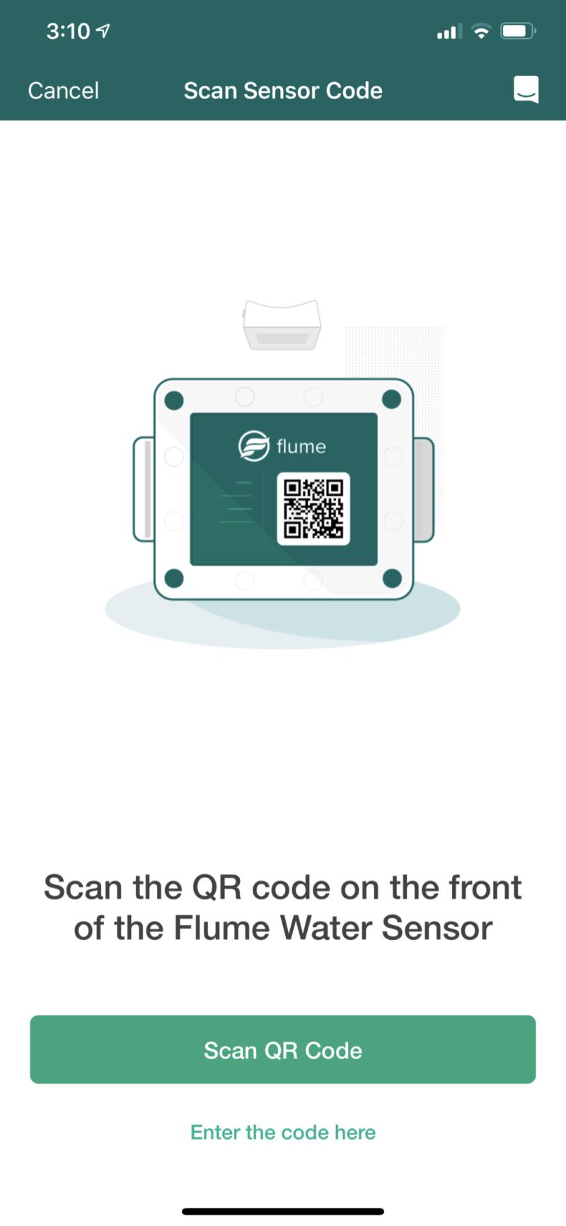 Flume qr code